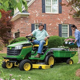 E100 Series Lawn Tractor and Poly Cart